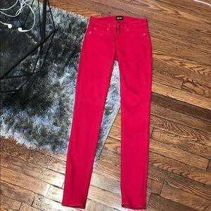 Hudson Nico Mid-Rise Super Skinny Jeans - Cherry